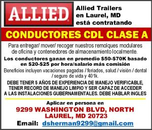 Conductores CDL Clase A Employment Opportunity