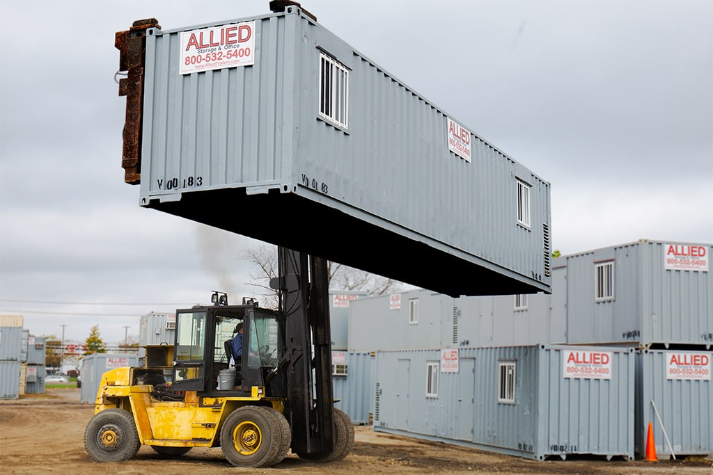 Best Placement for Mobile Office Containers